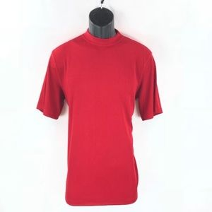 Men's Dressy Red Ribbed T-Shirt By LOG-IN UOMO